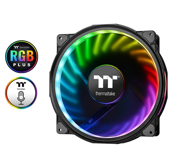 Quạt tản nhiệt THERMALTAKE New Case Fan Riing Plus 20 LED RGB TT Premium Edition (Single Fan Pack w/o Controller)  CL-F070-PL20SW-A Thermaltake