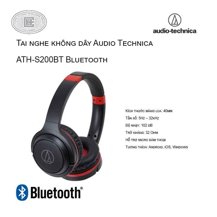 Tai Nghe Chụp Tai Audio Technica ATH-S200BT Bluetooth