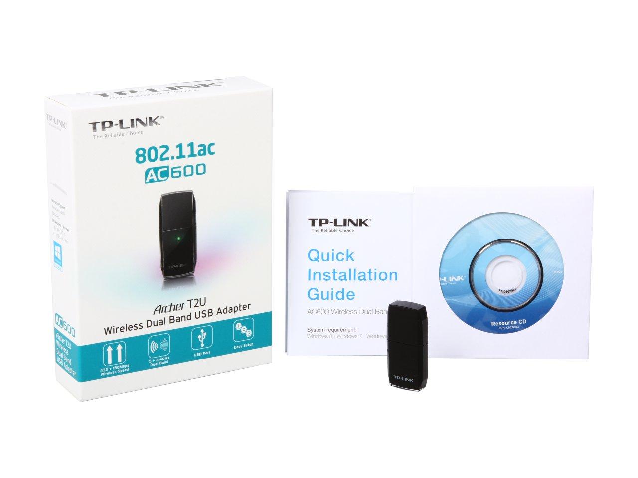 TP-LINK Wireless USB Adapter- Bộ chuyển đổi USB Không dây Băng tần kép AC600 - Archer T2U