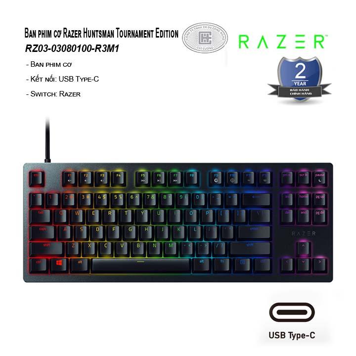 Bàn phím cơ Razer Huntsman Tournament Edition (Linear Optical Red Switch) (RZ03-03080100-R3M1)
