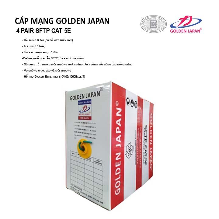 CÁP MẠNG GOLDEN JAPAN 4 PAIR SFTP CAT 5E( Màu Xanh Lá)