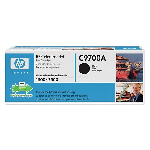 Mực máy in HP Color LaserJet 1500/2500 Màu Đen - C9700A