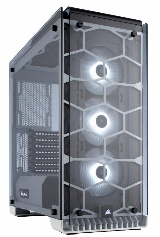 THÙNG CASE CORSAIR Crystal Series 570X White RGB -Tempered Glass- kính cường lực - CC-9011110-WW
