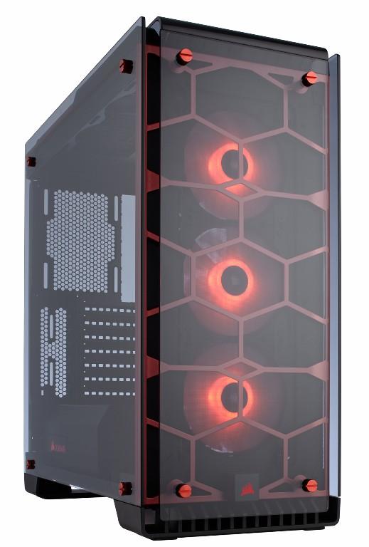 THÙNG CASE CORSAIR - Crystal Series 570X Red RGB -Tempered Glass- kính cường lực - CC-9011111-WW