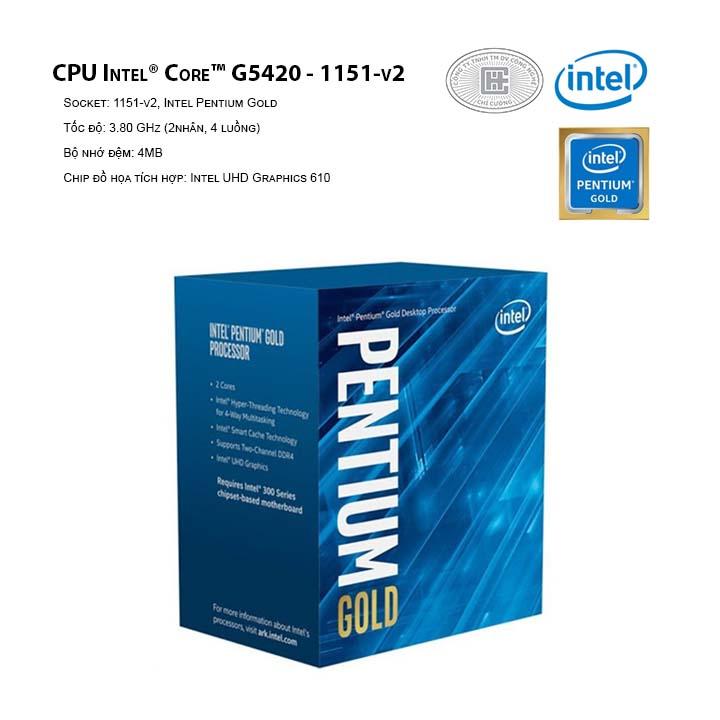 CPU INTEL Pentium G5420 (2C/4T, 3.80 GHz, 4MB) - 1151-v2