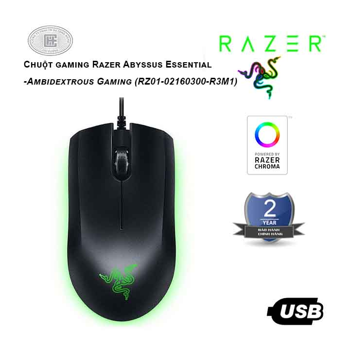 Chuột gaming Razer Abyssus Essential (Đen)