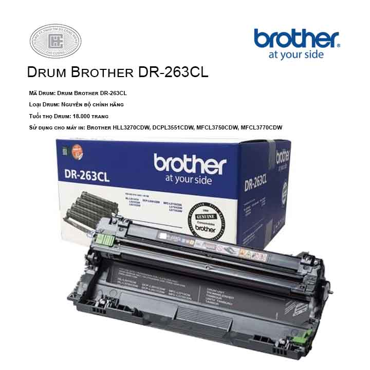 Drum mực in laser Brother DR-263CL (Cho Máy DCP-L3551CDW, MFC-L3750CDW)