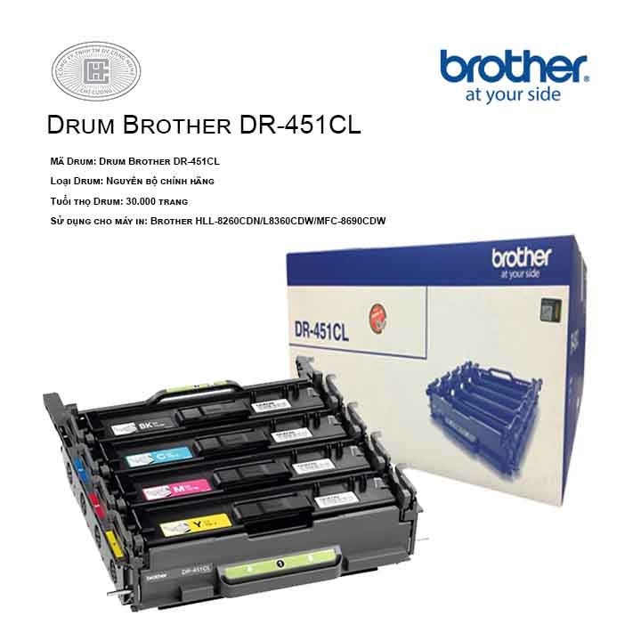 Drum mực in laser Brother DR-451CL (Cho Máy HLL-8260CDN, L8360CDW, MFC-8690CDW)