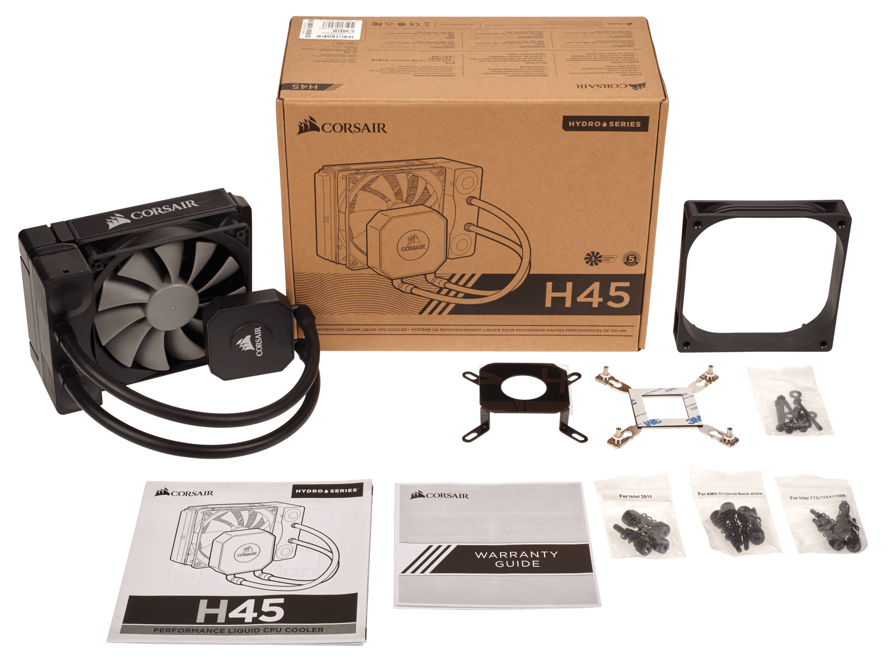 FAN FOR CPU CORSAIR - CPU Hydro Cooler H45 - 120mm - Single - CW-9060028-WW