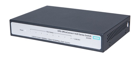 HPE 1420 8G Switch JH329A - Gigabit UNMANAGED SWITCH