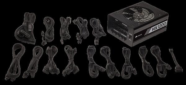 NGUỒN MÁY TÍNH CORSAIR - HX1200 - 80 Plus Platinum - Full Modul - CP-9020140-NA