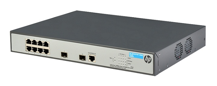 HP 1920-8G-PoE+ (180W) Switch - JG922A 8 port 10/100/1000 Mbps + 2 slot SFP