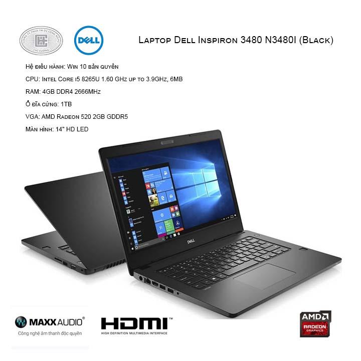 Laptop Dell Inspiron 3480 N3480I (Black)