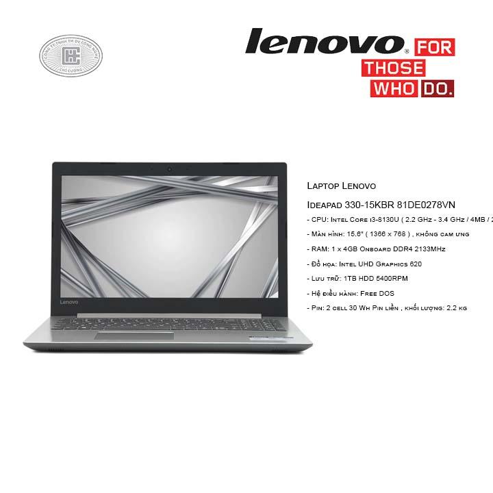 Laptop Lenovo Ideapad 330-15KBR 81DE0278VN (15.6