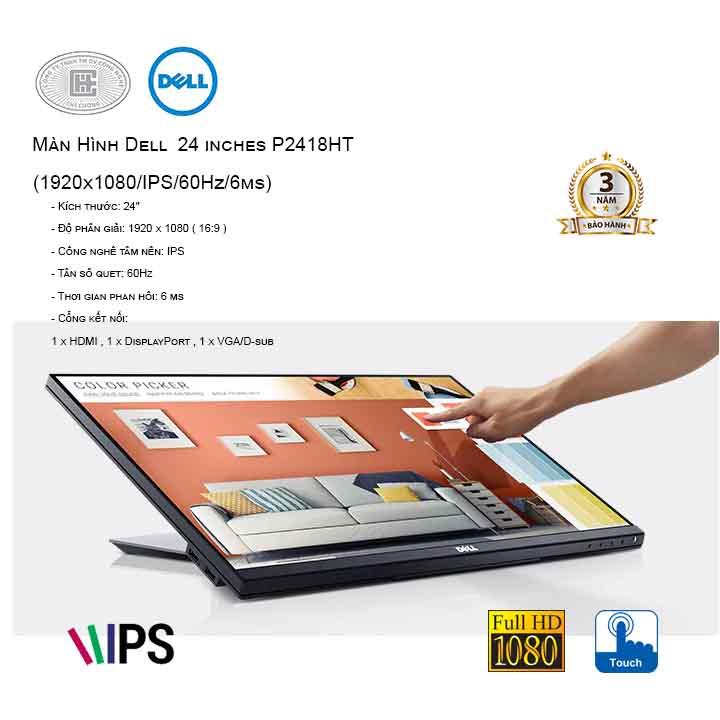Màn Hình cảm ứng Dell  24 inches P2418HT
