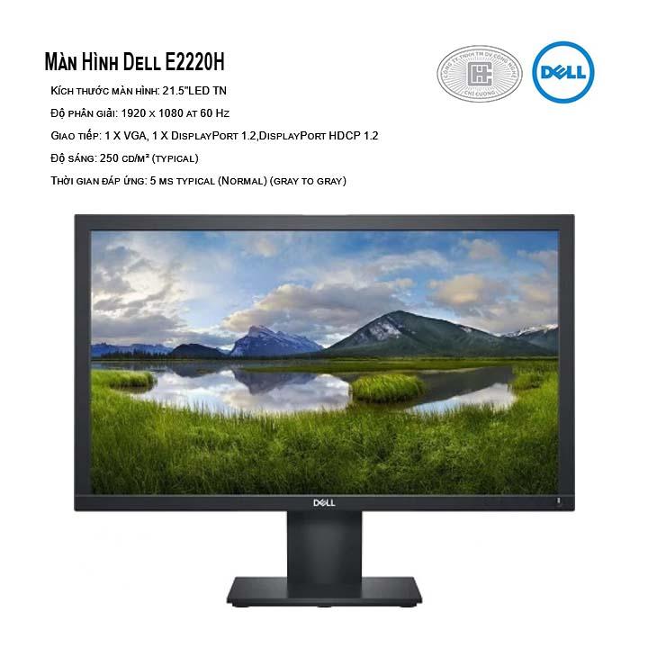 Màn hình Dell E2220H (1920x1080, TN, 60Hz, 8ms)