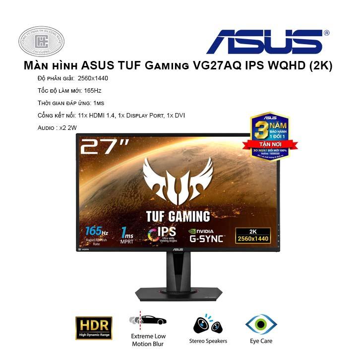 """Màn hình ASUS TUF Gaming VG27AQ IPS 27"""" WQHD (2K) 165Hz 1ms MPRT G-Sync Compatible"""