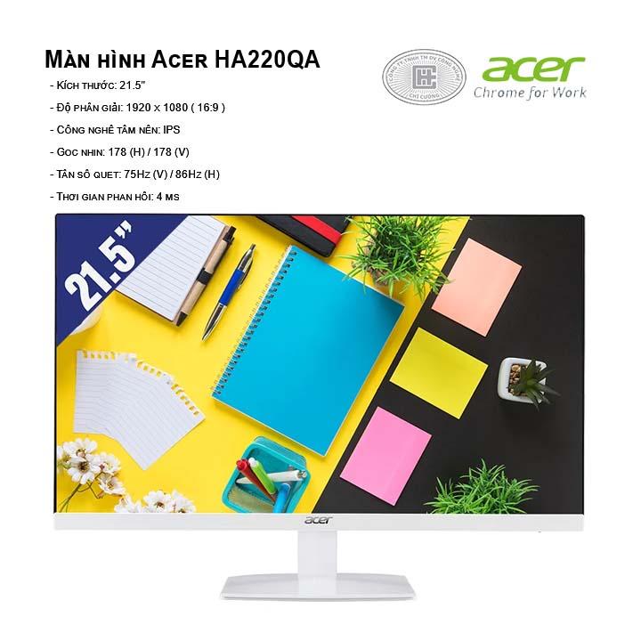 Màn hình Acer HA220QA (1920 x 1080/IPS/86Hz/4 ms)