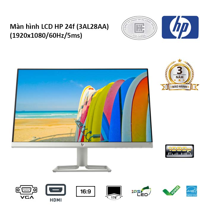 Màn hình LCD HP 24f (3AL28AA) (1920x1080/60Hz/5ms)