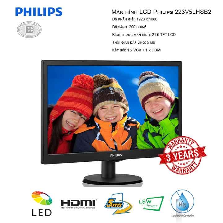 Màn hình LCD Philips 223V5LHSB2