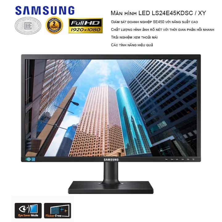 Màn Hình Samsung LS24E45KDSC/XV 24 INCHES (1920x1080/TN/60Hz/5ms)