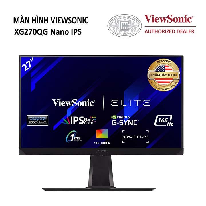 Màn hình Viewsonic XG270QG (27 inch/2K/IPS/165Hz/1ms/350 nits/HDMI+DP/G-Sync/Loa)