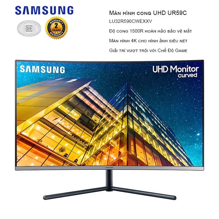 Màn hình cong Samsung LU32R590CWEXXV 32 inches (3840 x 2160/VA/60Hz/4ms/Đen)
