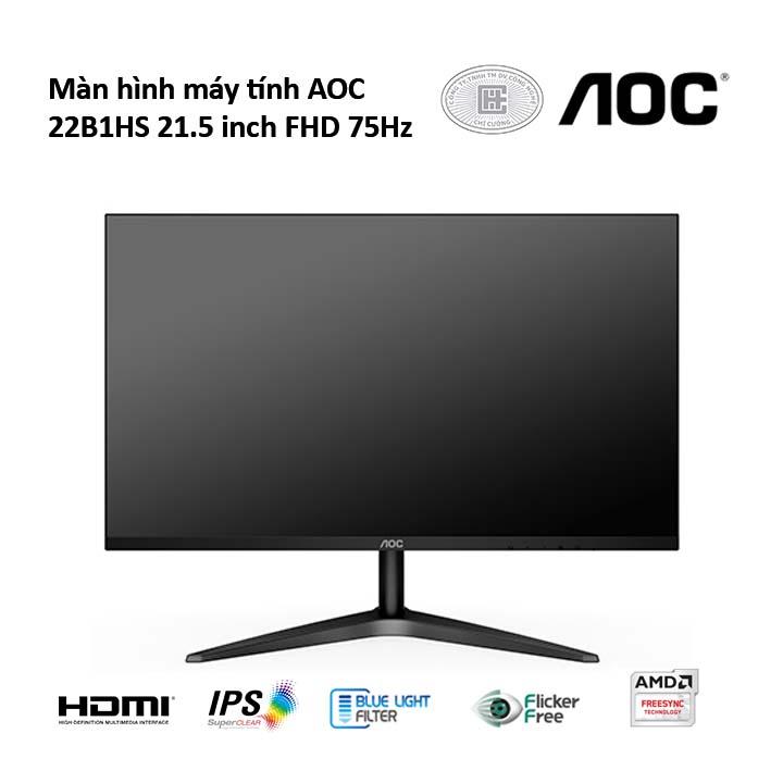 Màn hình máy tính AOC 22B1HS 21.5 inch FHD 75Hz