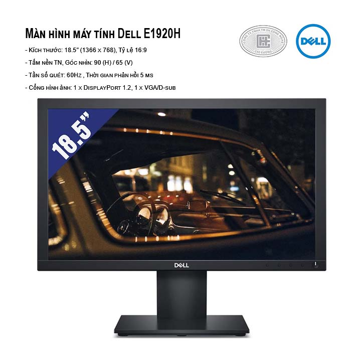 Màn hình Dell E1920H (18.5 inch/HD/TN/60Hz/5ms/200 nits/DP+VGA)