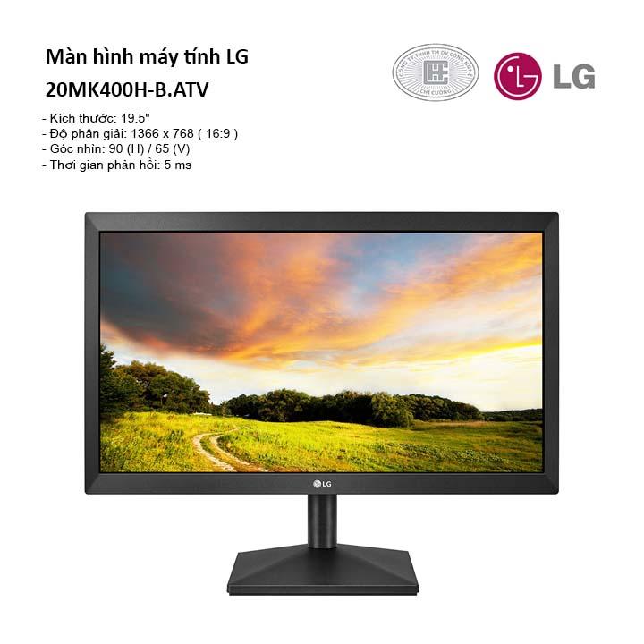 Màn hình máy tính LG 19.5'' 20MK400H-B