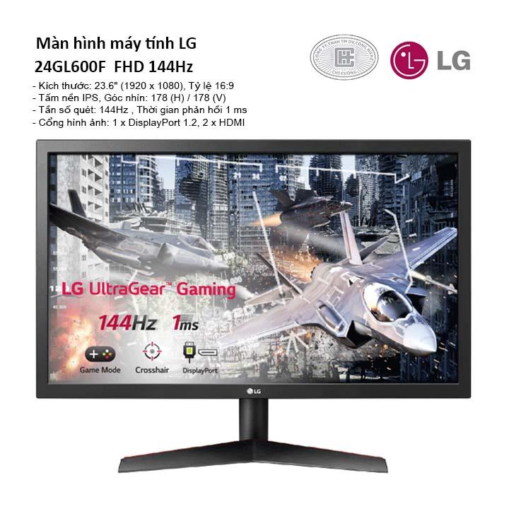 Màn hình máy tính LG 24GL600F-B 24 inch FHD 144Hz