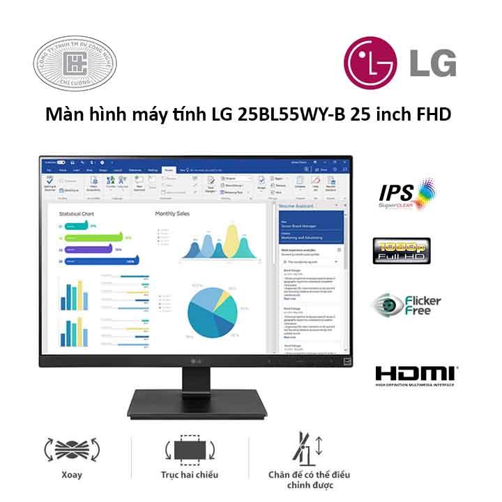 Màn Hình Máy Tính LG 25 inches 25BL55WYB (1920 x 1080/IPS/5ms/Đen)