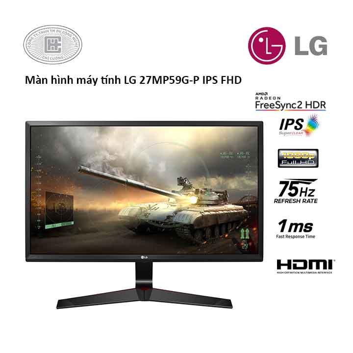 Màn Hình Máy Tính LG 27 inhces 27MP59G-P (1920x1080/IPS/75Hz/5ms/FreeSync)