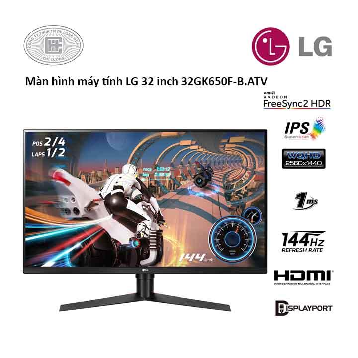 Màn hình máy tính LG 32 inch 32GK650F-B.ATV (WQHD/VA/144H/1ms)