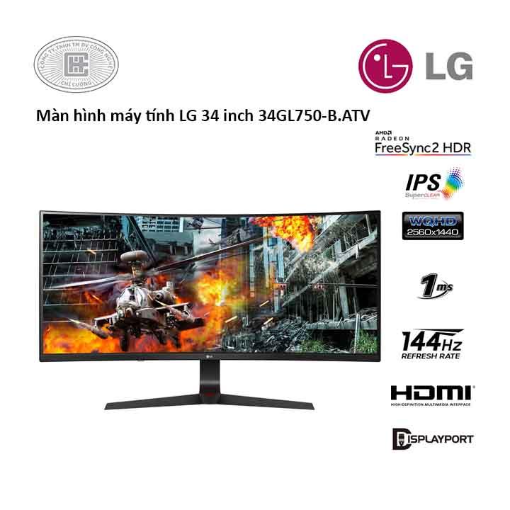 Màn hình máy tính LG 34 inches 34GL750-B.ATV (2560 x 1080/IPS/144Hz/1 ms/G-Sync)