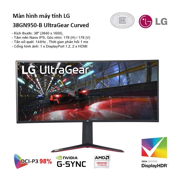 Màn hình máy tính LG 38GN950-B Nano IPS 1ms 144Hz