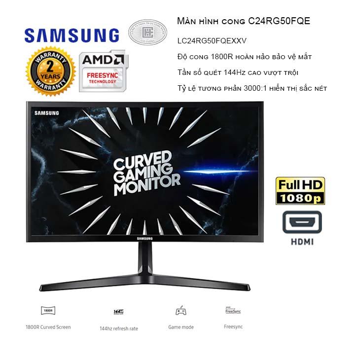 Màn hình máy tính Samsung LC24RG50FQEXXV 23.5inch FHD 144Hz Cong