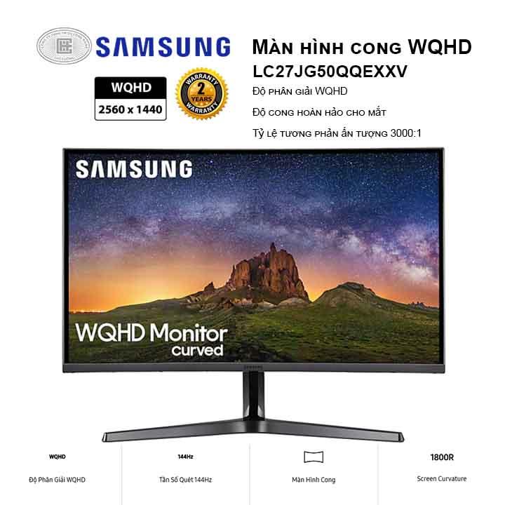 Màn hình máy tính Samsung 27 inches LC27JG50QQEXXV (2560x1440/VA/144Hz/4ms)