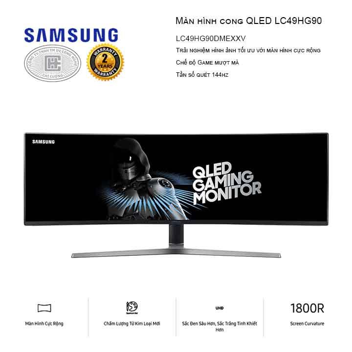 Màn Hình cong Samsung LC49HG90DMEXXV (3840x1080/VA/144Hz/1ms/FreeSync)