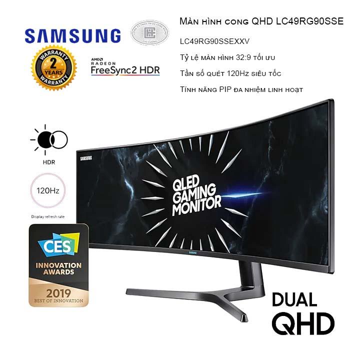 Màn hình máy tính Samsung LC49RG90SSEXXV 49inch QHD 120Hz Cong