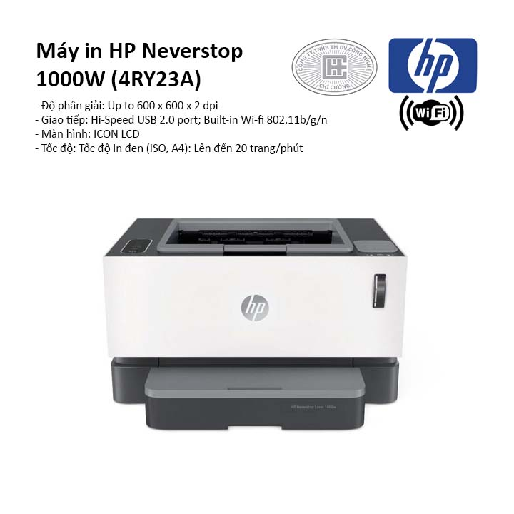 Máy in laser trắng đen HP Neverstop 1000W (4RY23A)