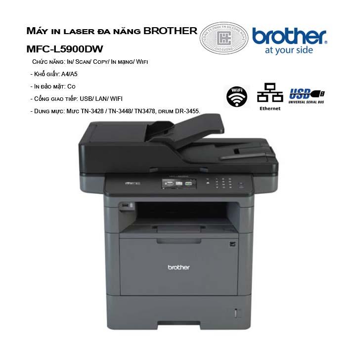 Máy in laser đa năng BROTHER MFC-L5900DW
