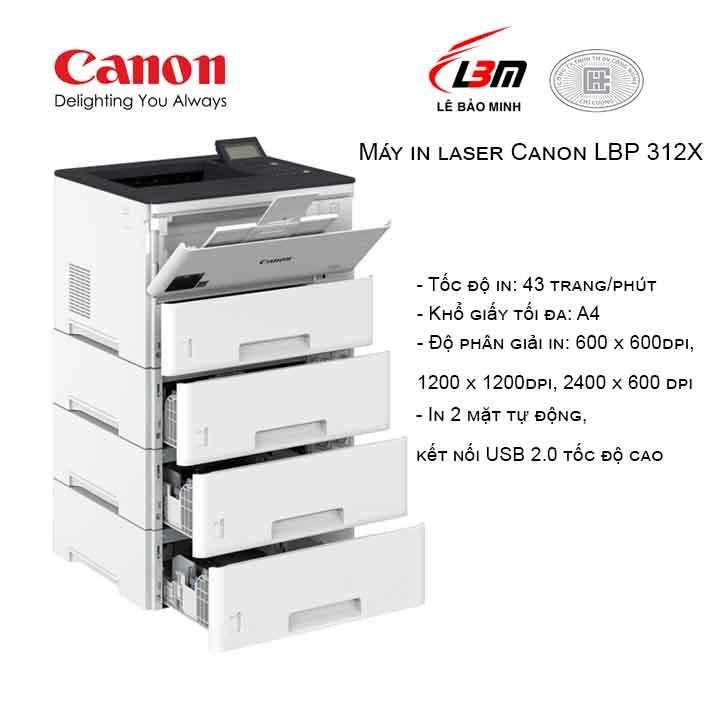 Máy in laser Canon LBP 312X Trắng (In Laser 2 mặt)