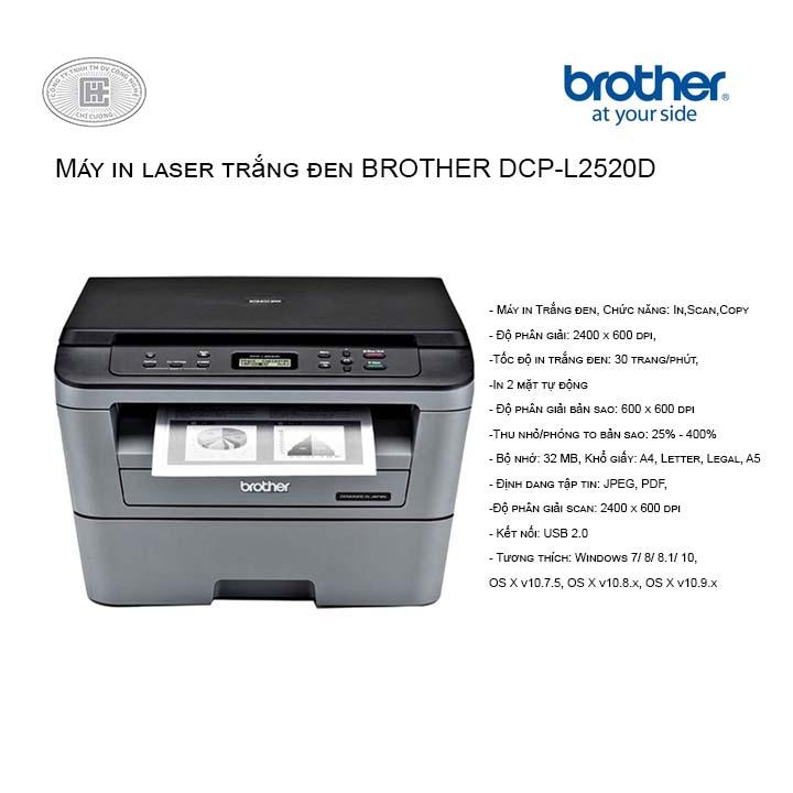 Máy in laser Brother DCP-L2520D đa chức năng