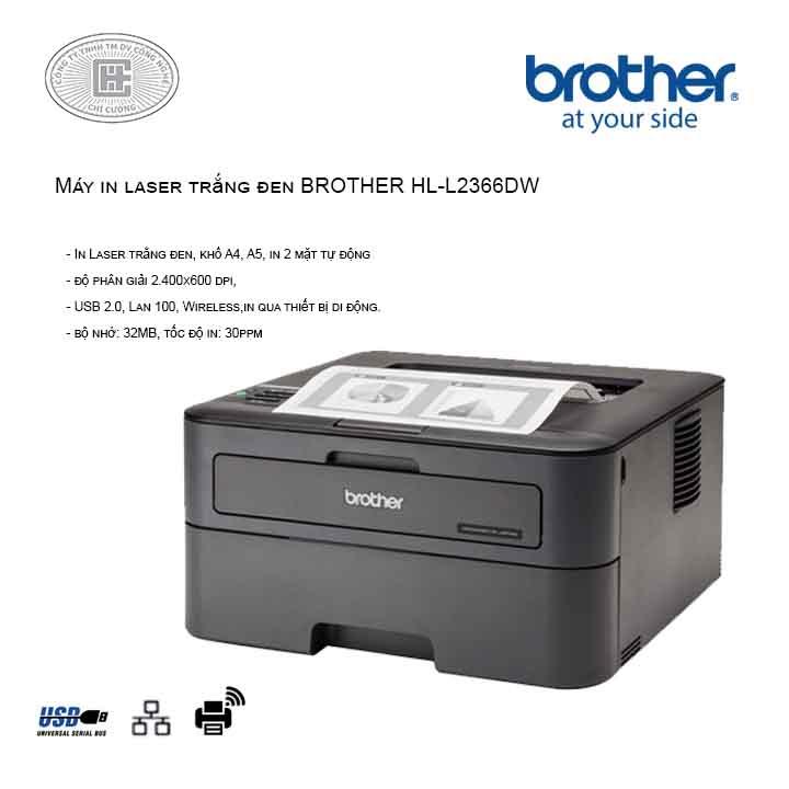 Máy in laser Brother HL-L2366DW (2 mặt , wifi)