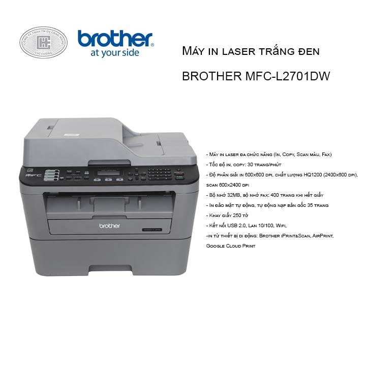 Máy in laser trắng đen BROTHER MFC-L2701DW