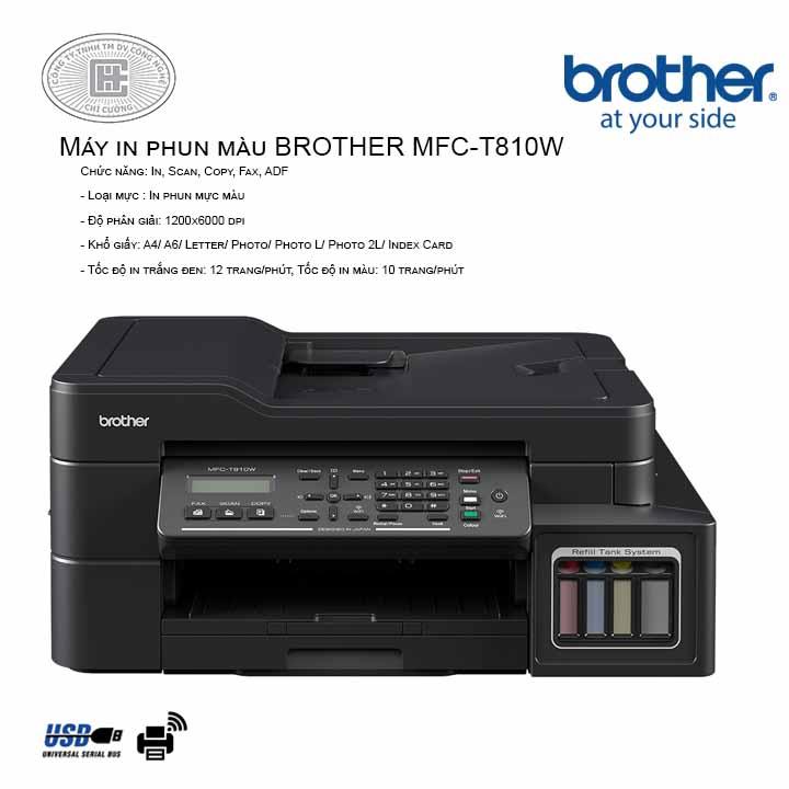 Máy in phun màu đa năng BROTHER MFC-T810W