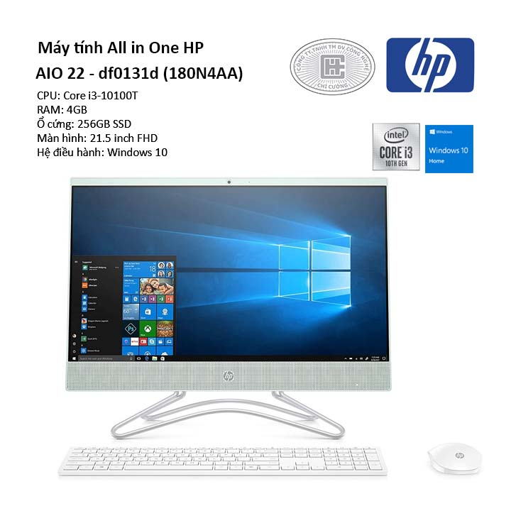 Máy tính All in One HP AIO 22 - df0131d (180N4AA)
