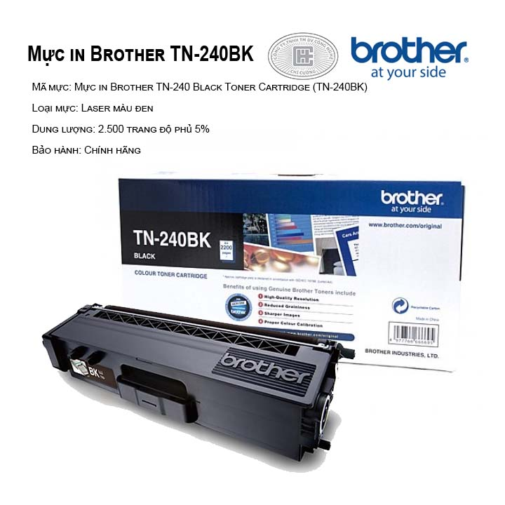 Mực in brother TN240BK