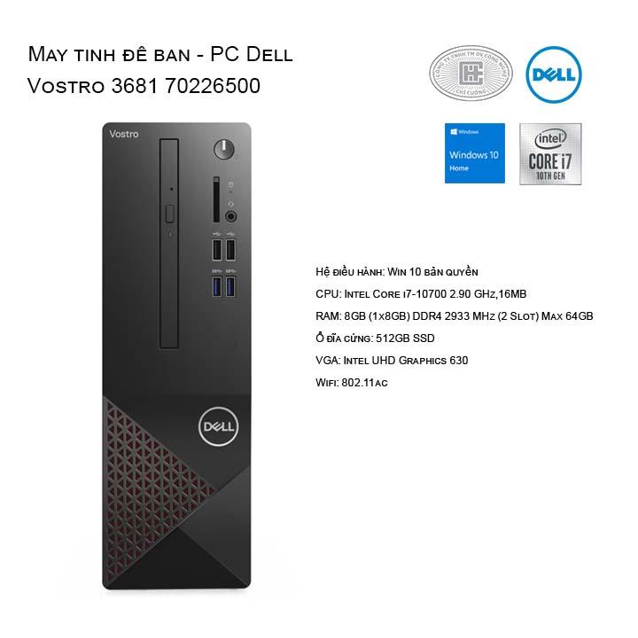 Máy tính để bàn - PC Dell Vostro 3681 70226500